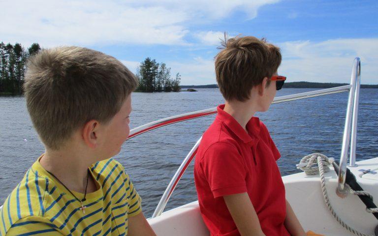 Nestorinranta Bootstouren auf dem Saimaa, Puumala